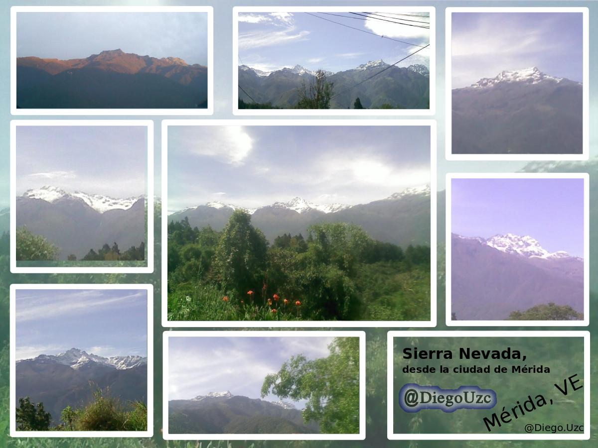 Sierra Nevada de Mérida con sus Pícos Bolívar, Toro, León