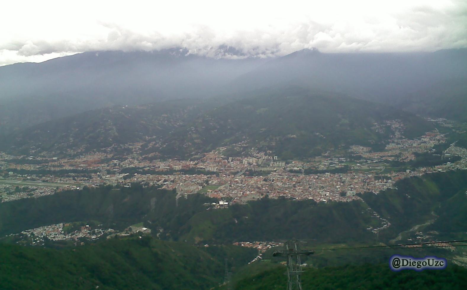 La ciudad de Mérida desde la estación La Montaña