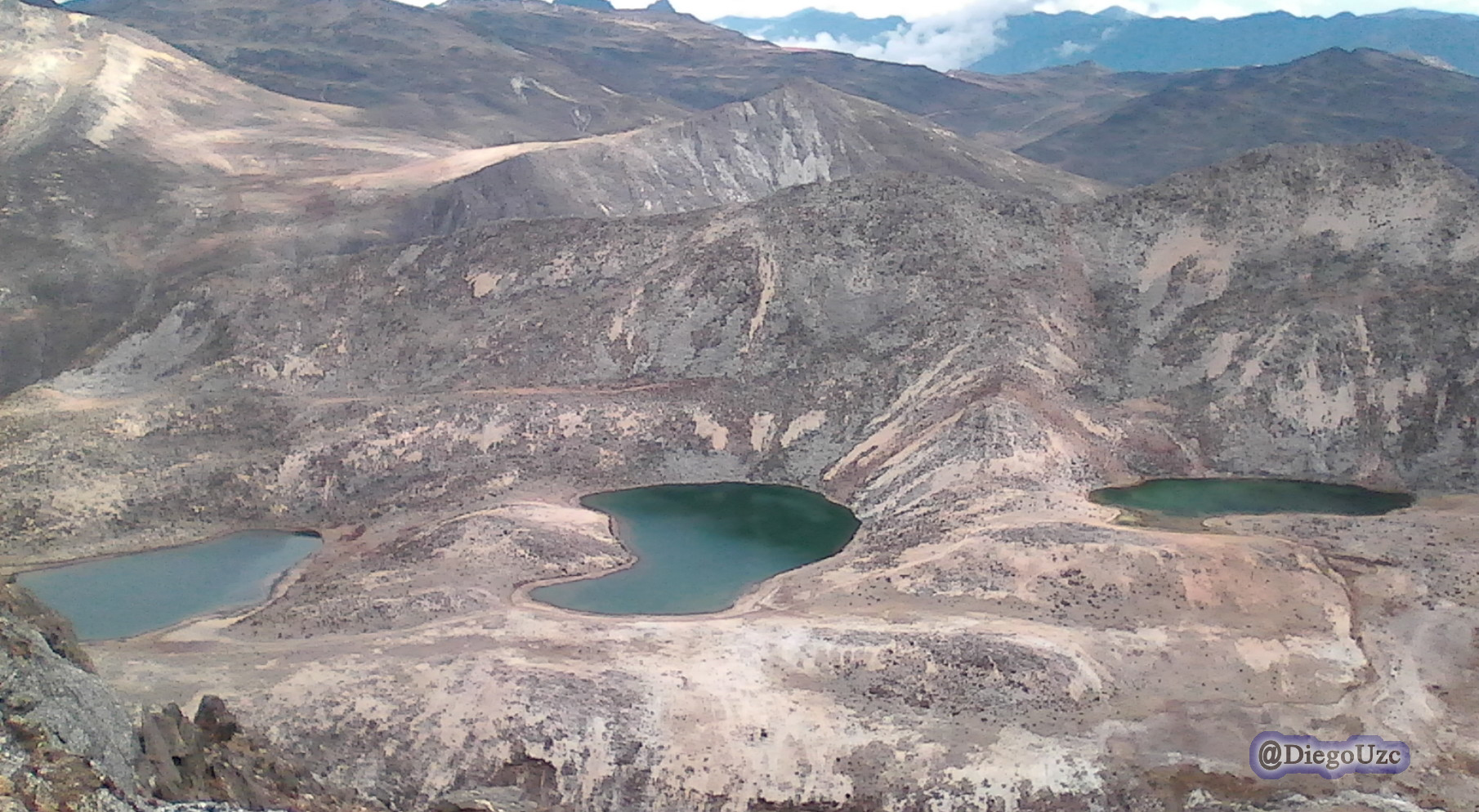 Lagunas Las Verdes desde el Píco Las Verdes - Mifafí