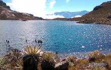Laguna Albarregas y Pícos Humboldt y Bolívar al fondo