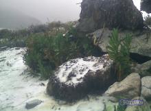 Una nevada en la travesía La Culata - La Musui