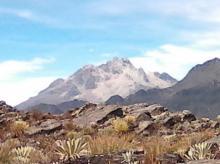 Pícos Humboldt y Bompland desde el Alto de Santo Cristo